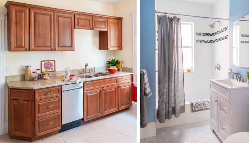 Fall 2021, Dorchester reveal, 1st floor kitchen and bathroom