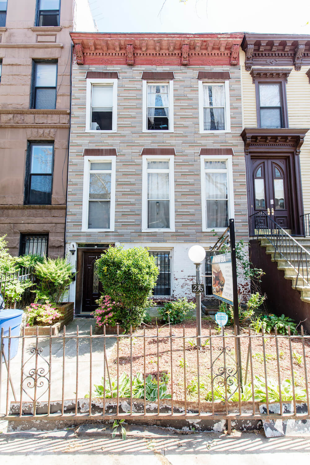 Outside of Bed-Stuy home remodel site
